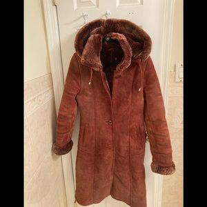 Jackets & Blazers - Shearling leather coat